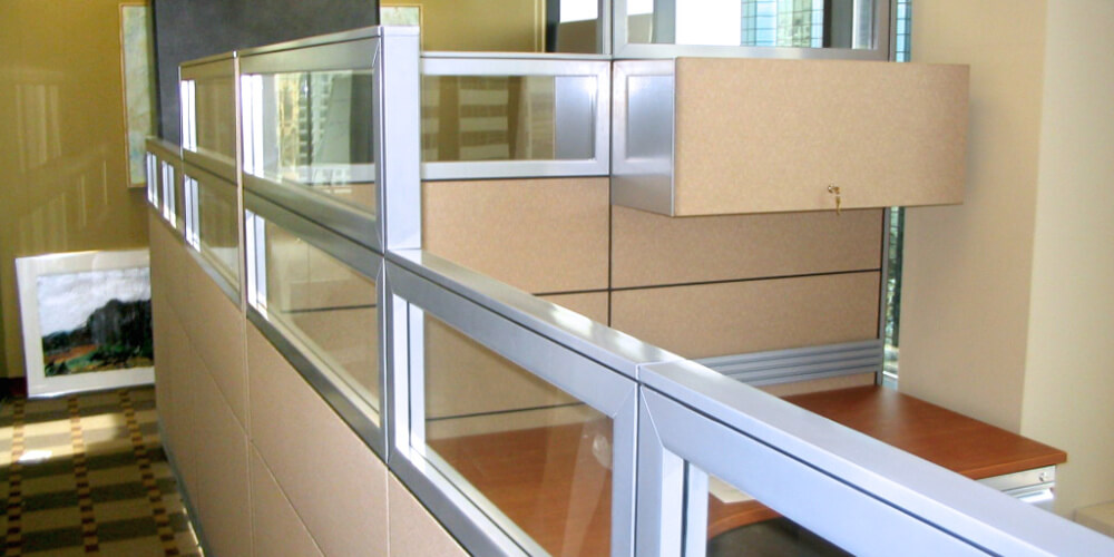 Systèmes de cloisons - Panel systems - Cubicules - Cubicles - Variations - Rampart - Partitions-101