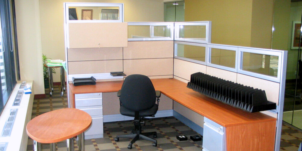 Systèmes de cloisons - Panel systems - Cubicules - Cubicles - Variations - Rampart - Partitions-203