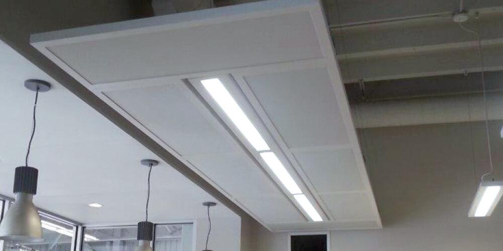 Acoustic Panels Panneaux acoustiques_Special panel neon ceiling_1